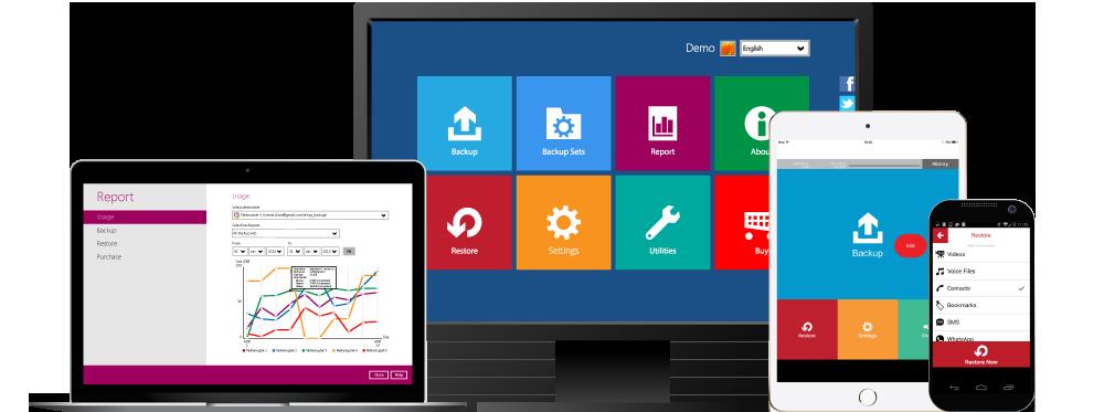 Online back-up software